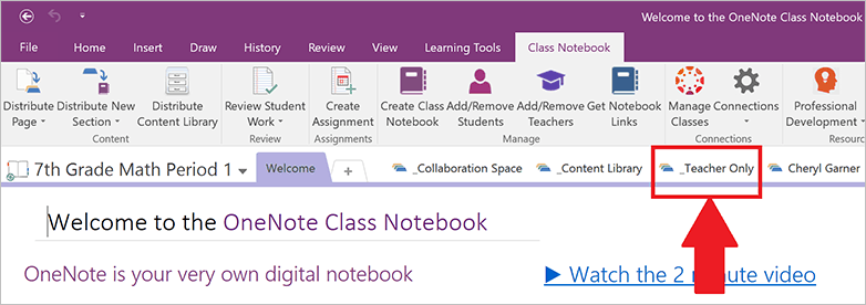 OneNote Class Notebook API updated, adds Teacher Only spaces