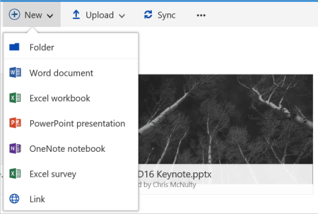 Create a link in modern document libraries.