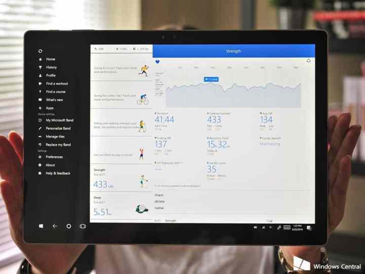 Windows 10 Health app updates.