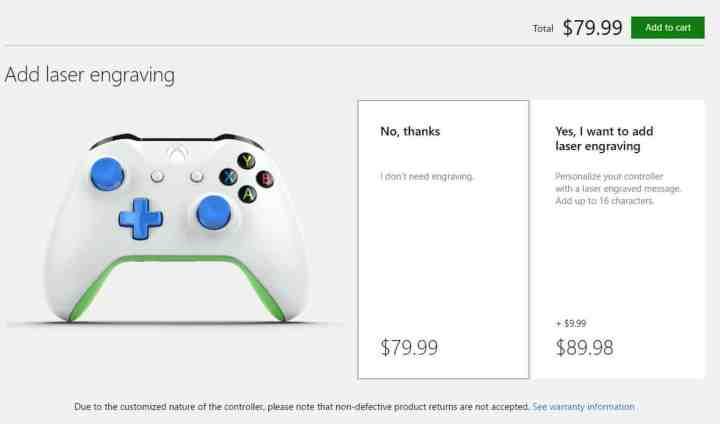 Xbox One Wireless Controler Customize Step 2.