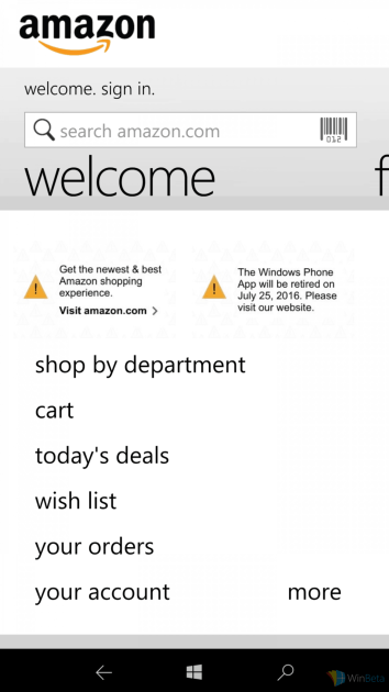 amazon-retiring-windows-phone-app-message
