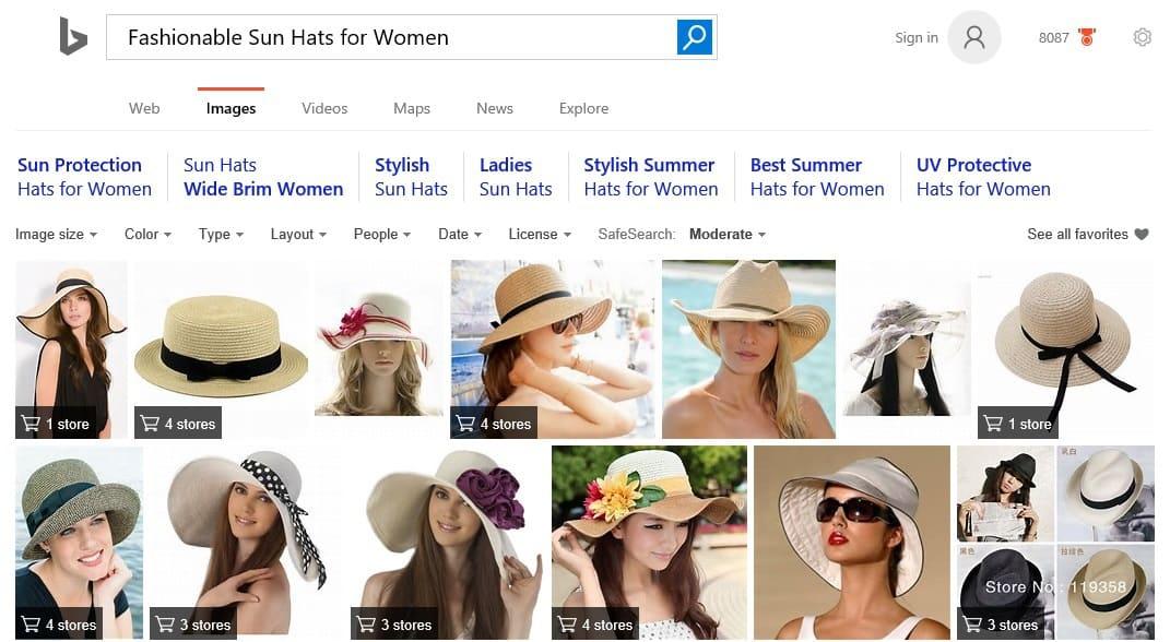 Fashion Shopping on Bing