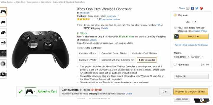 Amazon Xbox Elite Deal