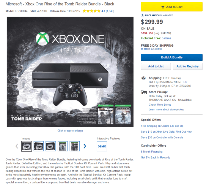Best Buy Xbox One Bundle
