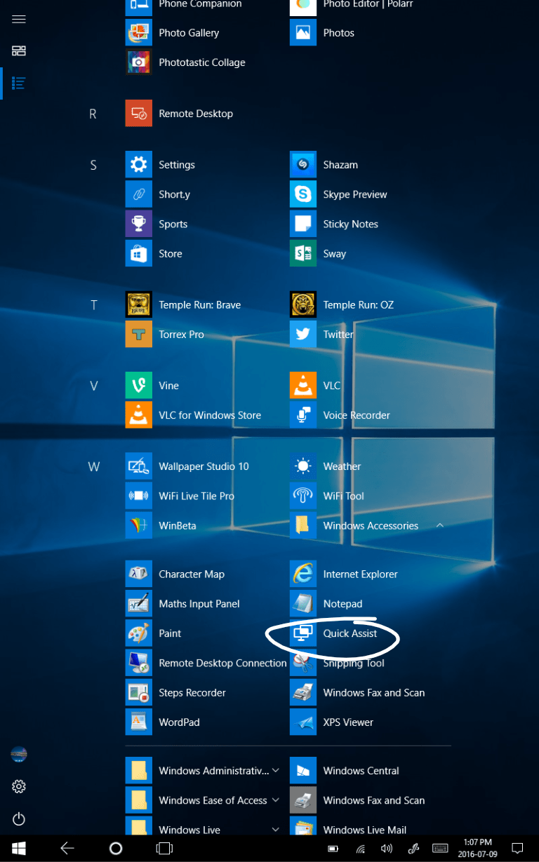 Microsoft\u0027s Quick Assist makes another appearance in Windows 10