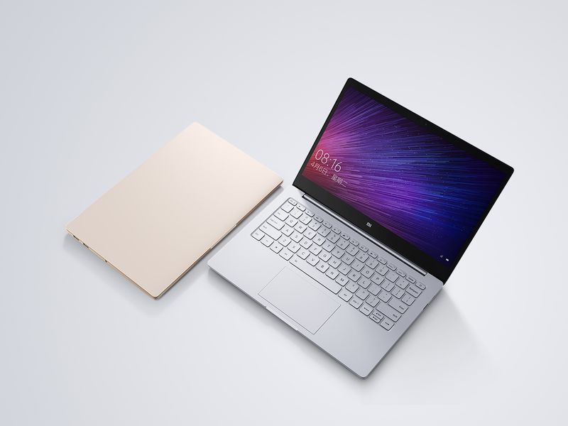 The Mi Notebook Air will come in gold or silver.