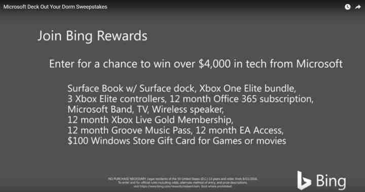 Microsoft Deck Out Your Dorm Sweepstakes
