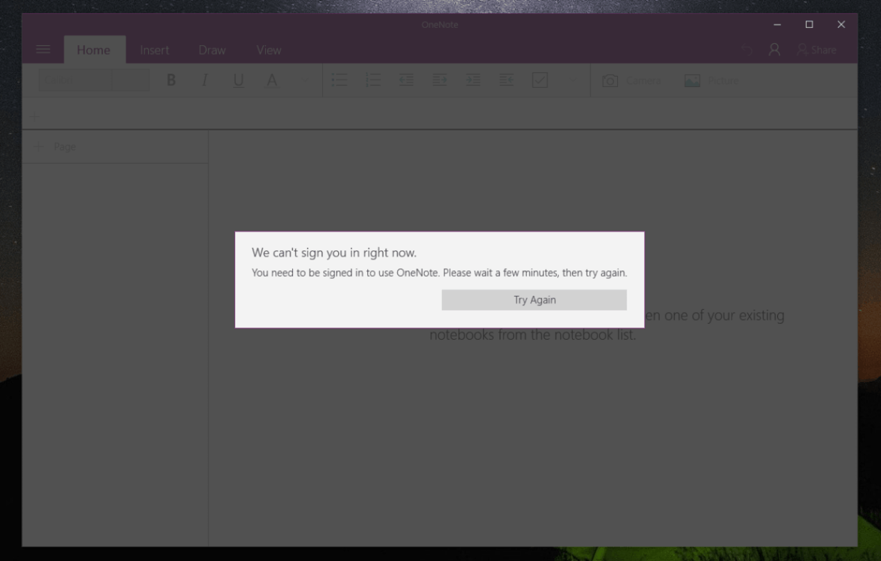 You can't use OneNote without being signed in.