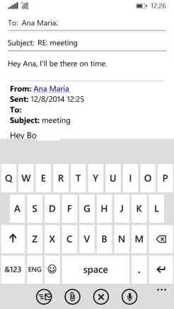 Windows Phone 8 Mail app