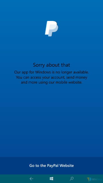paypal-windows-app-not-available