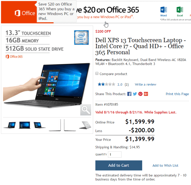 Costco Dell XPS 13