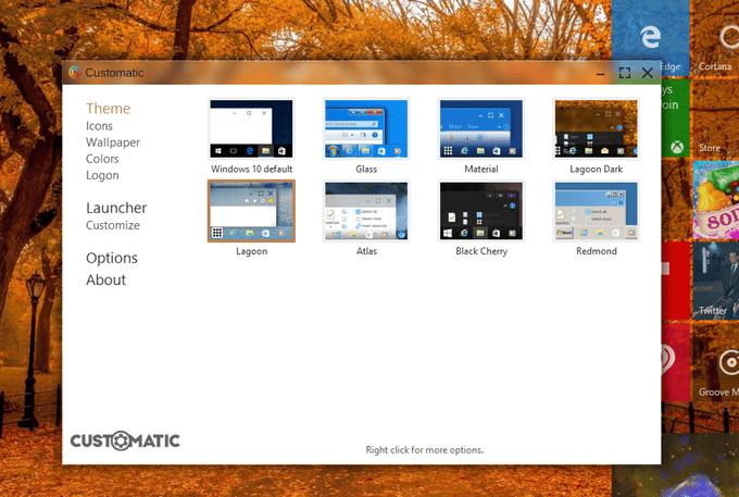 Customatic already has seven built-in themes.