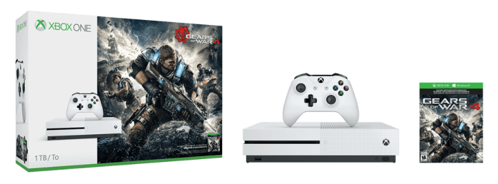 The Xbox One S Gears of War 4 bundle.