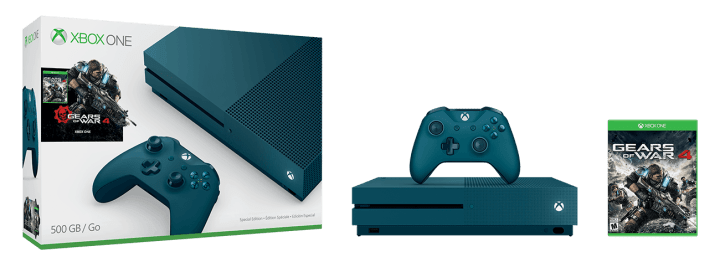 The Xbox One S Gears of War 4 Special Edition bundle.