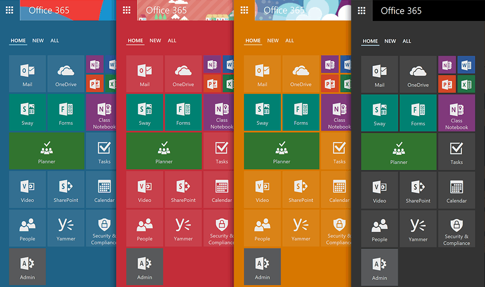 New Office 365 App Launcher adds tabbed layout, resize-able