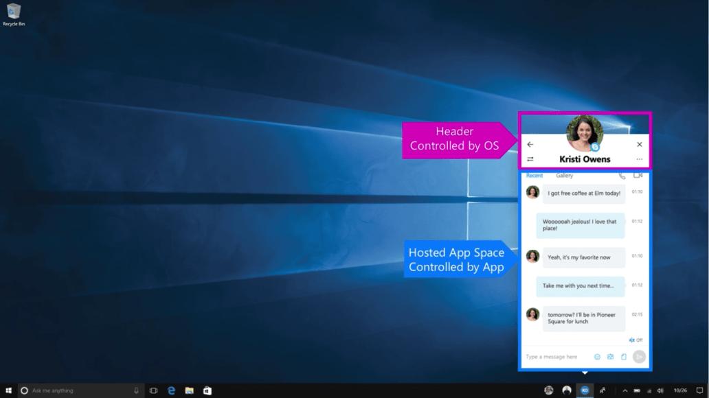 Microsoft Skype UWP App with MyPeople