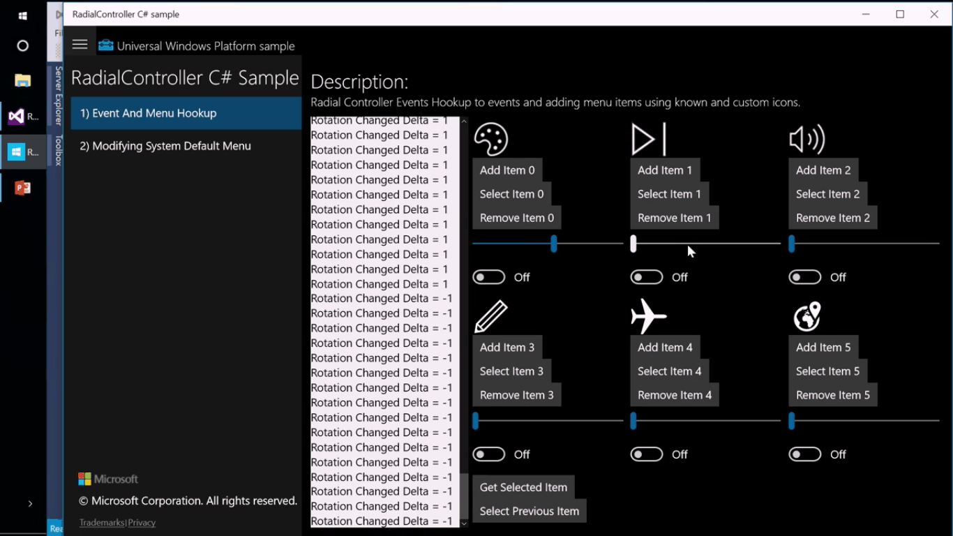 Microsoft Surface Dial settings