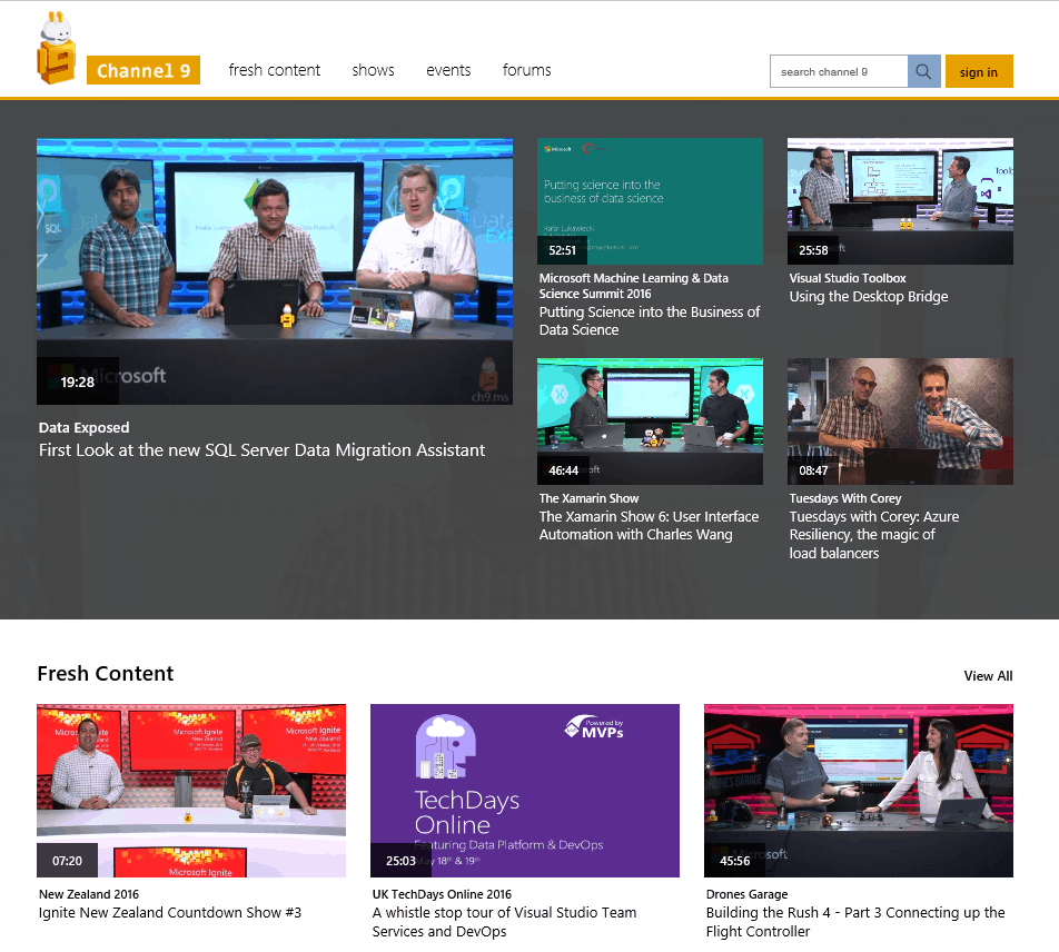 Microsoft Channel 9 Preview
