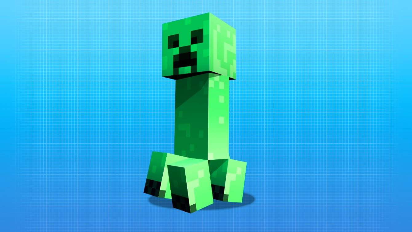 Minecraft Creeper from Mojang Pocket Edition Windows 10 Beta