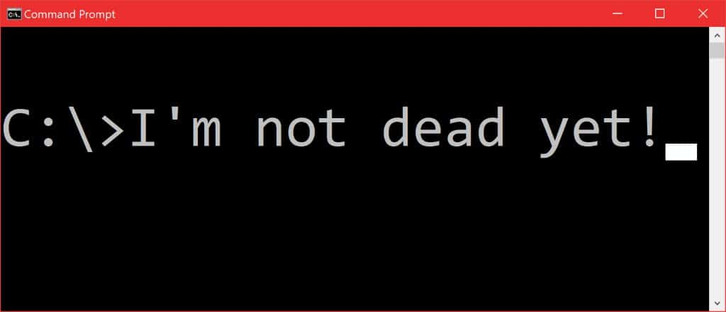 Microsoft explains why the Command Prompt is not dying