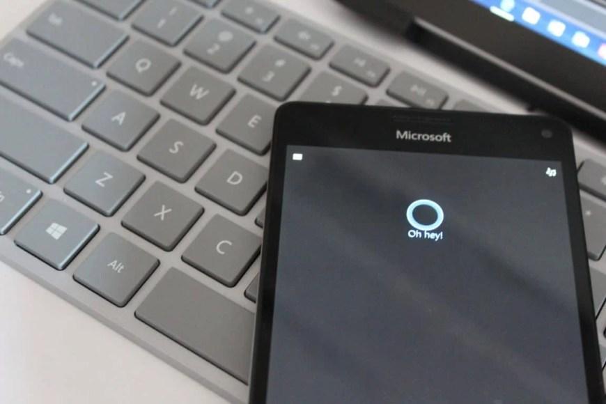 Hey Cortana on Lumia 950 XL Windows Phone