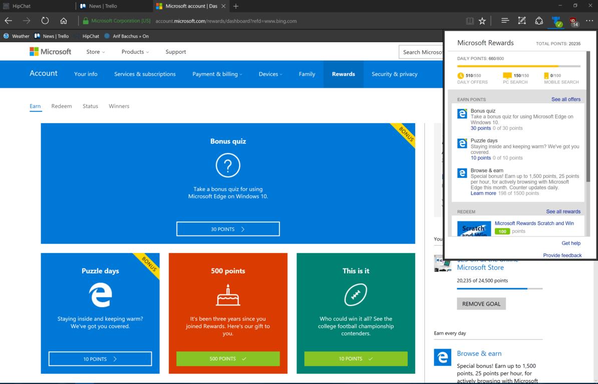 Microsoft Rewards Extension