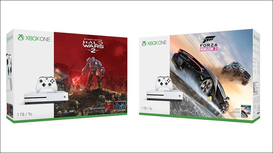 Xbox One S Halo Wars 2 Forza Horizon 3 bundles