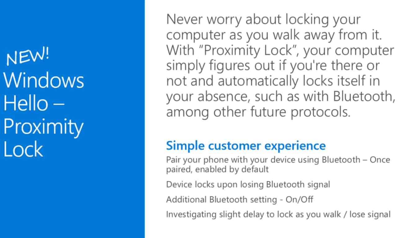 Windows 10 Proximity Lock