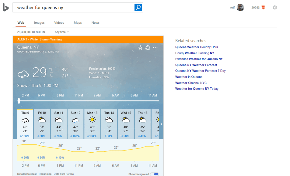 Bing Weather
