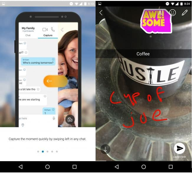Skype Preview Android Capture Moment
