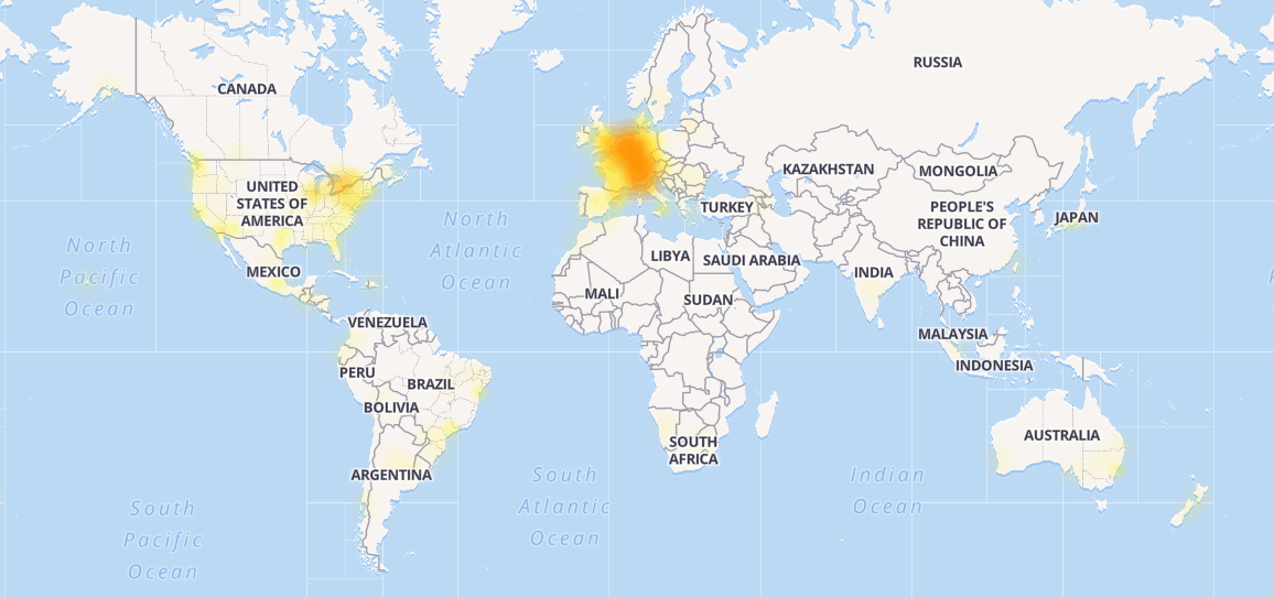 Outlook.com Outage Map