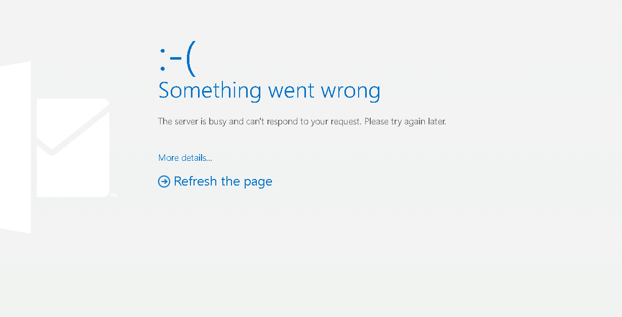 Outlook.com Something Went Wrong