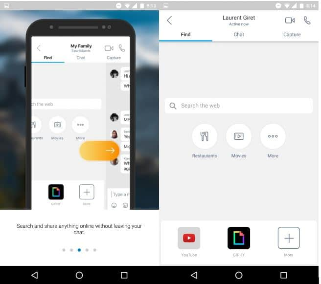 Find panel Skype Preview Android