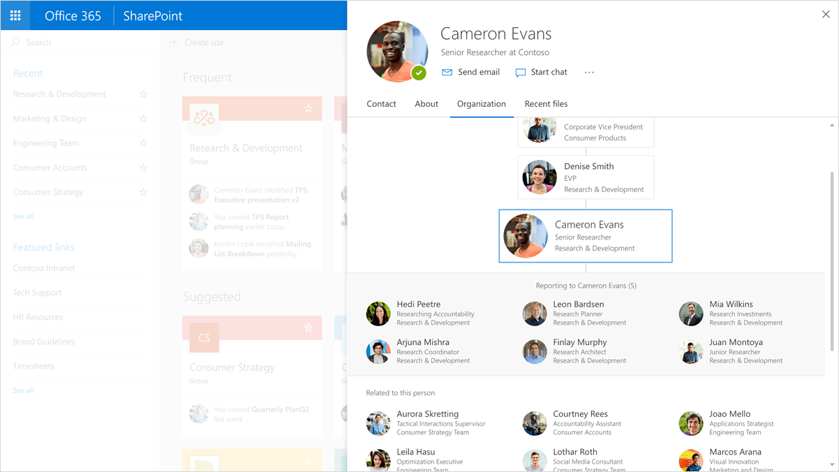 Office 365 new profile experience
