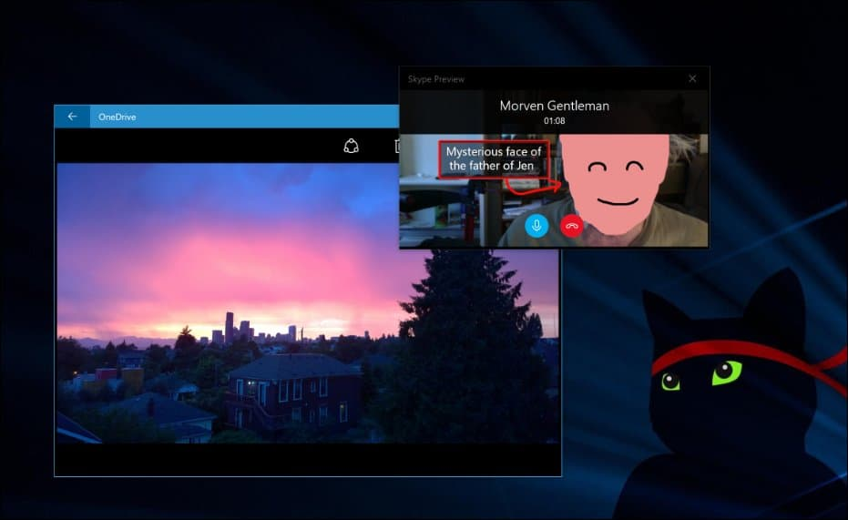skype preview compact overlay