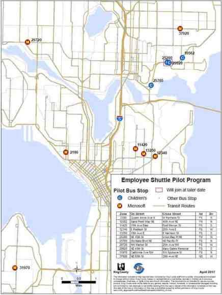 Shuttle Program Map