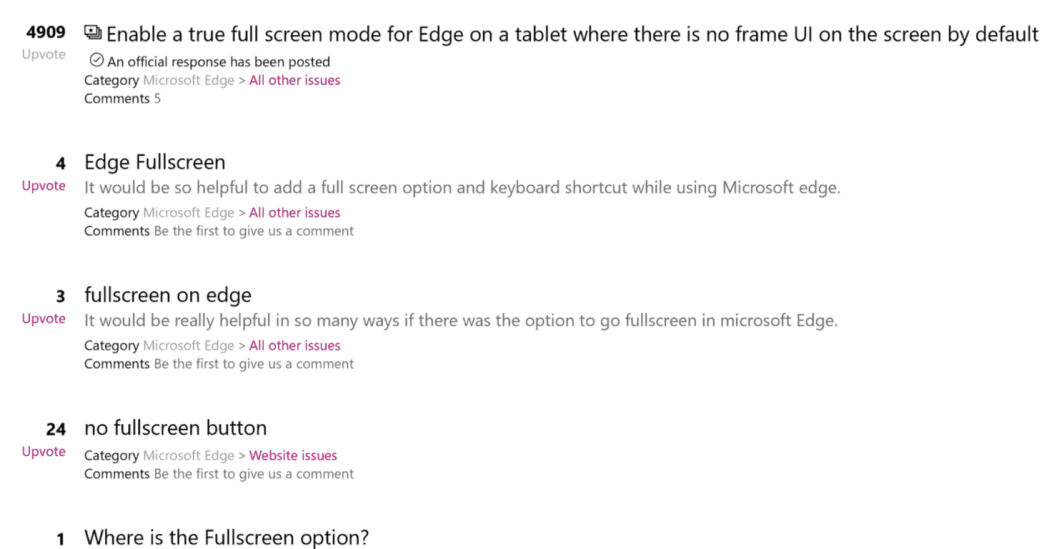 Windows 10 Feedback Hub