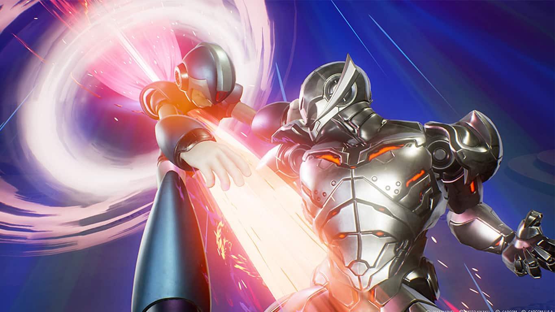 Megaman and Ultron in Marvel vs. Capcom: Infinite on Xbox One
