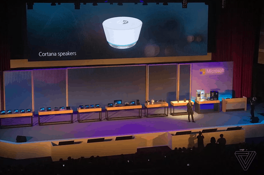 HP Cortana Speaker, Image from Sam Byford / The Verge