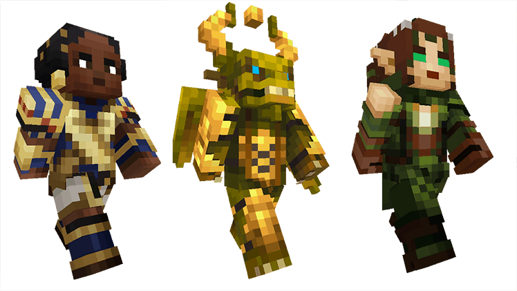 Magic The Gathering Skin Pack Comes To Minecraft Windows And - Skins para minecraft pocket edition de halo