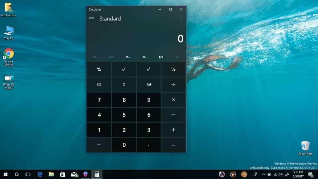 Windows Calculator Project NEON