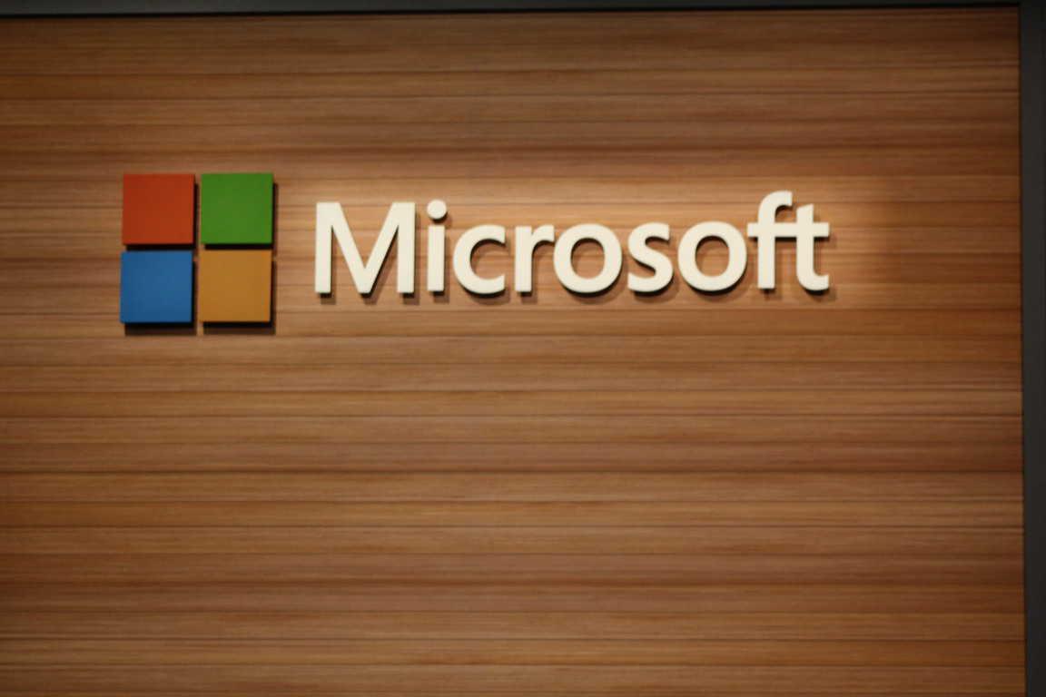 Microsoft interior sign