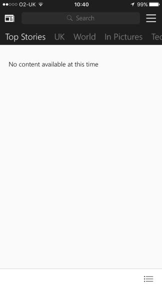 MSN News app broken on iOS