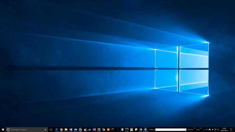 Screenshot of Windows 10 taskbar location