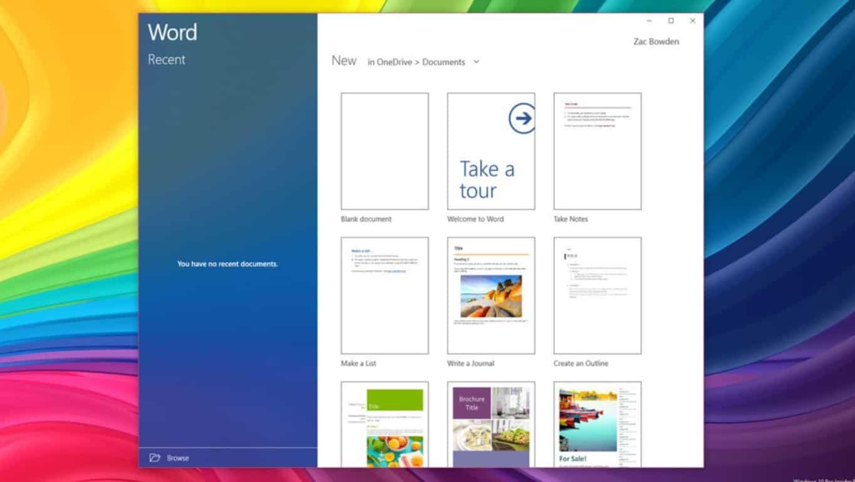 Office Mobile Fluent Design (image by windows central)