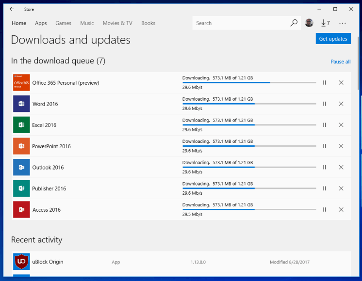 Select Windows Insiders can now download and test Office 365
