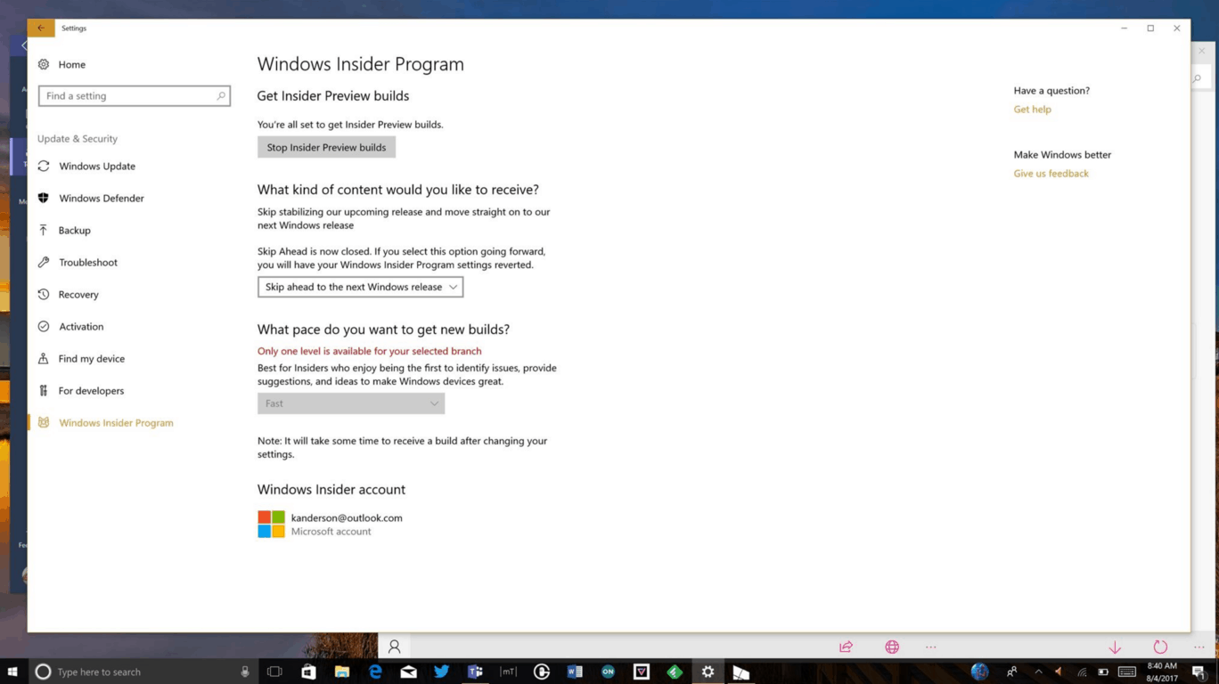 skip sign in page windows 10
