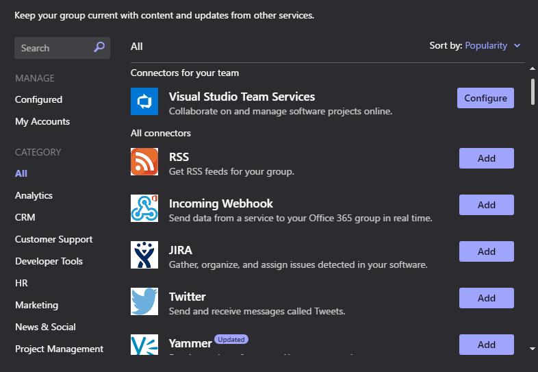 Microsoft, Microsoft Teams, Microsoft Team Tips, Connectors