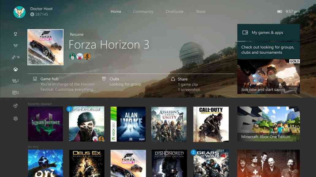 Fan-Made Xbox One Dashboard