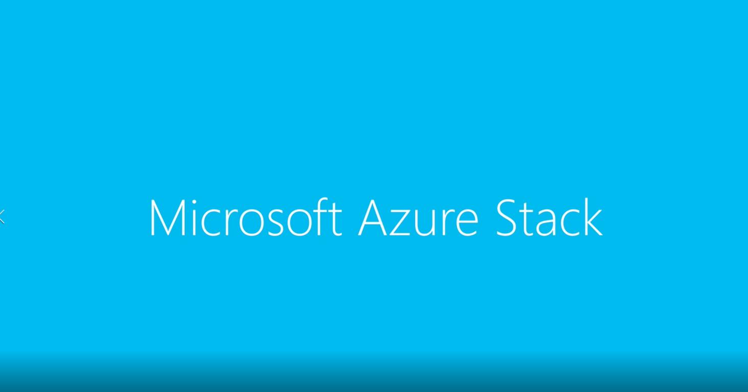 Microsoft, Azure, Stack